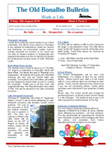 First page Term 3 Week 4 newsletter