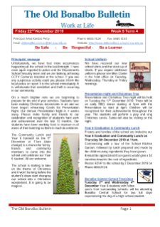 First page Term 4 Week 6 newsletter